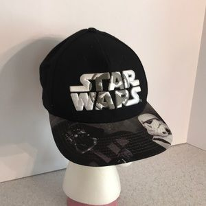 Black Star Wars snap back cap canvas hat